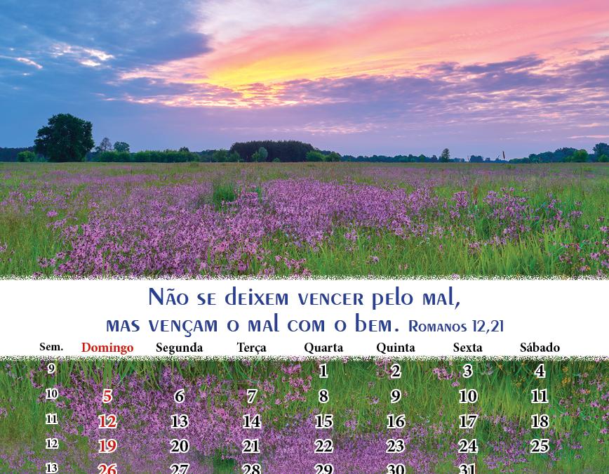 Calendário Março de 2017