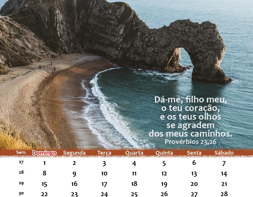 Calendário de Julho 2018