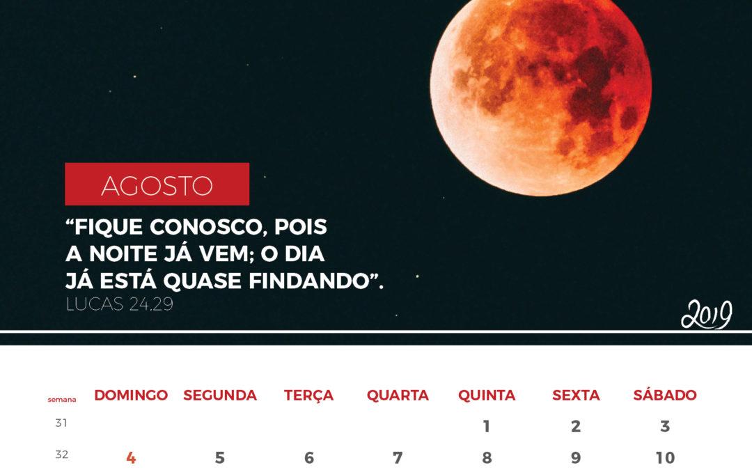 Calendário de 2019 – Agosto 2019