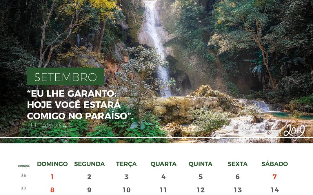 Calendário de 2019 – Setembro 2019