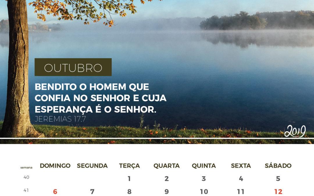 Calendário de 2019 – Outubro 2019