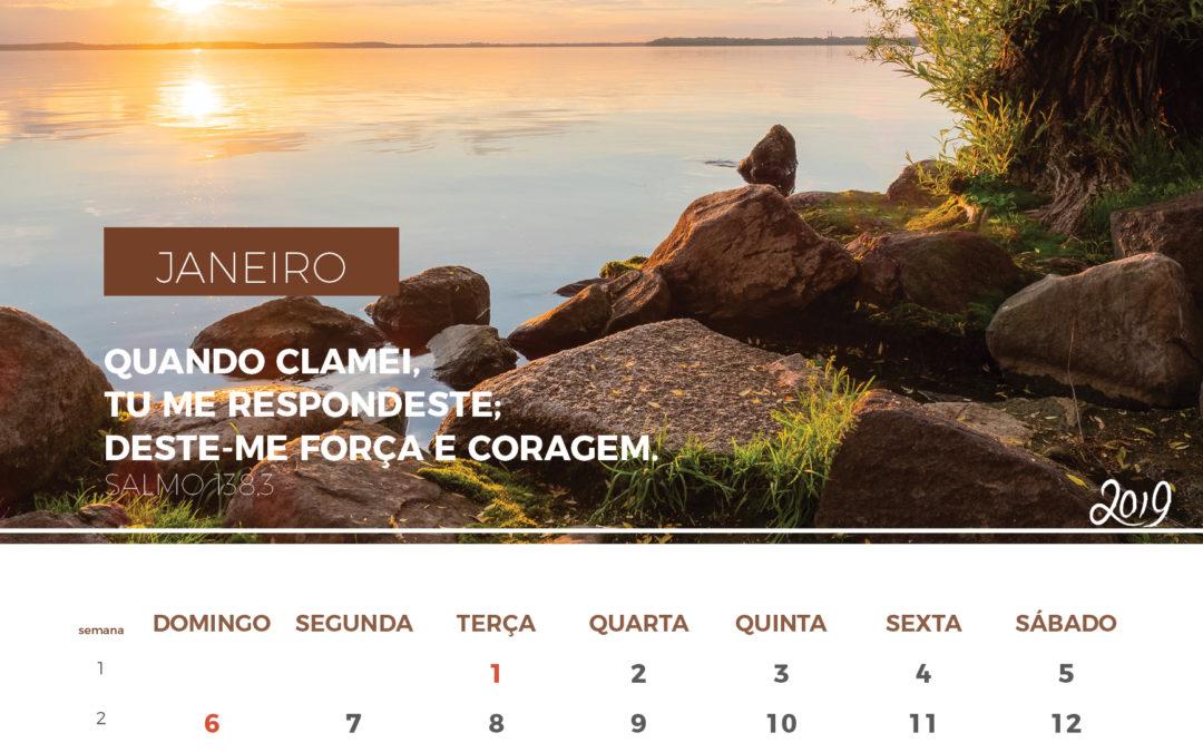Calendário de 2019 – Janeiro